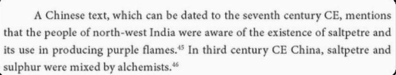 Chinese text gunpowder in India.
